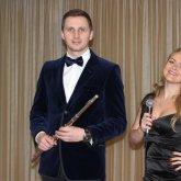 <p>Флейтист Алекс Бруни и певица Светлана Белякова</p>