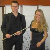 <p>С флейтистом Алексом Бруни</p>