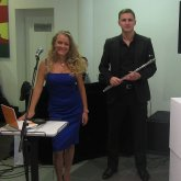 <p>Electro Opera - DJ Korkin,флейтист Алекс Бруни и Светлана Белякова</p>